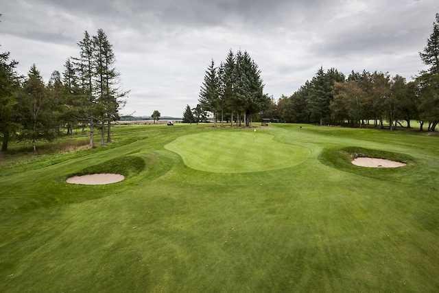 The 16th green approach at Alyth Golf Club