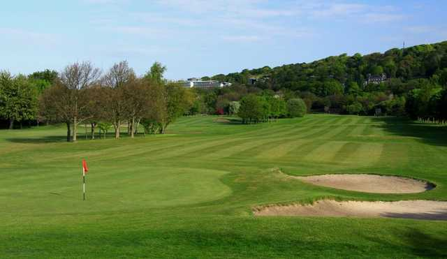 Greenside, looking down a fairway at Carrick Knowe