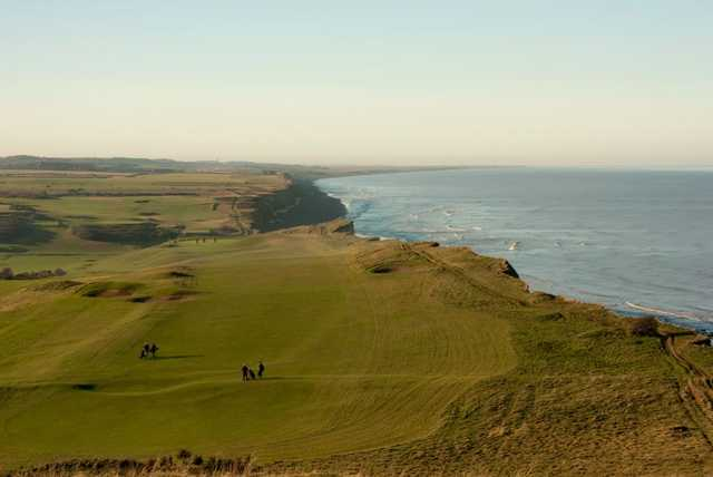 Stunning cliff top golf hole at Sheringham