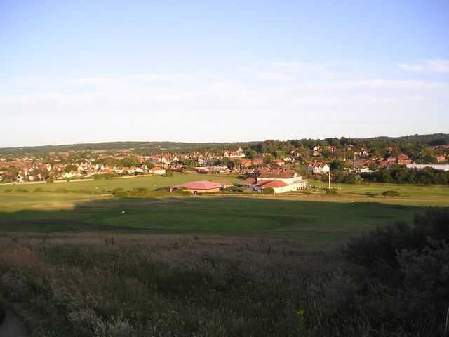 View across Sheringham golf course