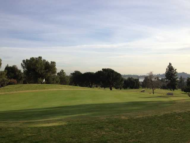 A view of a hole at Marshall Canyon Golf Club