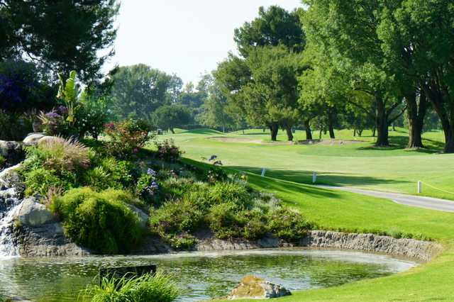 A sunny day view from Rio Hondo Golf Club.