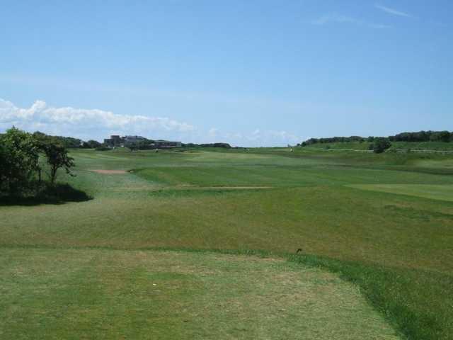 Long fairway at Leasowe Golf Club