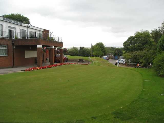 The well manicured putting green from Brookdale GC