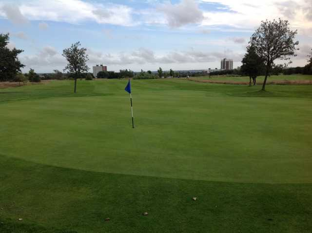 The 9th green and fairway at Newcastle United Golf Club