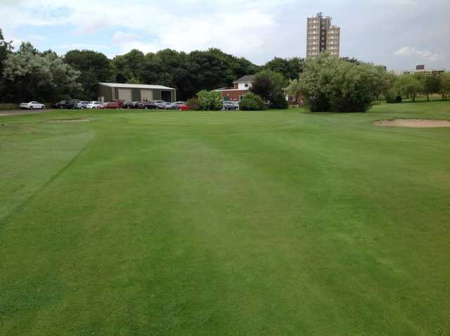 The 18th approach at Newcastle United Golf Club