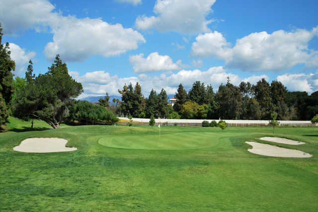 View of a green at Whittier Narrows Golf Course