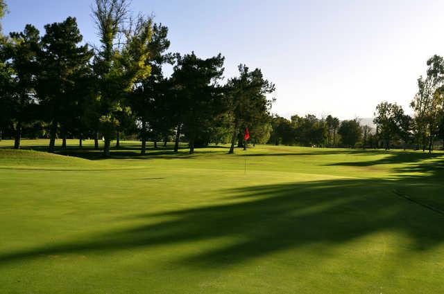 View of a green at Jurupa Hills Country Club