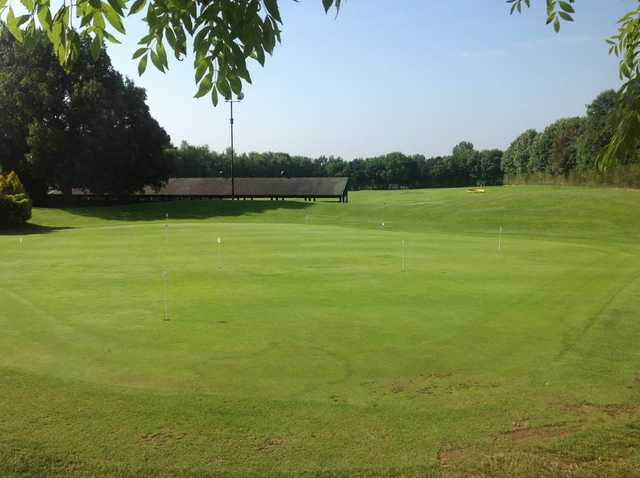 The putting green at Brandon Wood Golf Course
