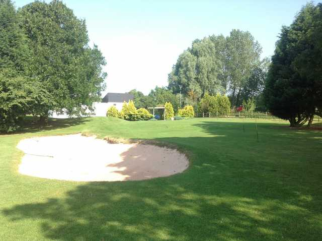 The chipping green at Brandon Wood Golf Course