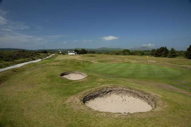Watch out for those bunkers at Pwllheli Golf Club