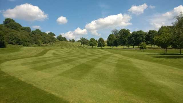 The lush 11th fairway at Herefordshire Golf Club