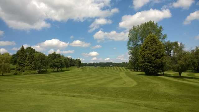 Opening shot at the Herefordshire Golf Club