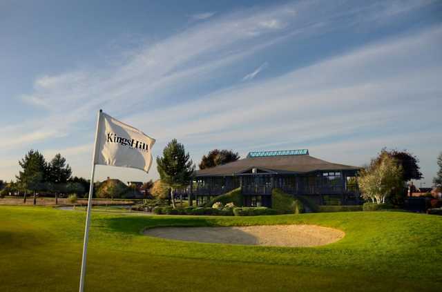 Exterior shot of the Kings Hill Golf Club clubhouse