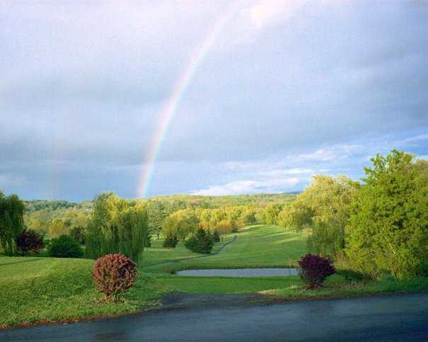 A rainbow view from Rondout Golf Club