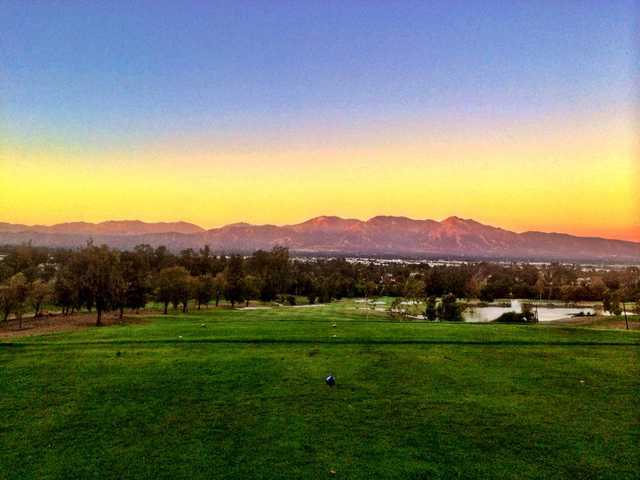 Sunset view from Los Serranos Golf & Country Club