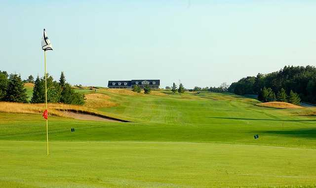 Looking back from the 1st hole at Black Diamond Golf Club