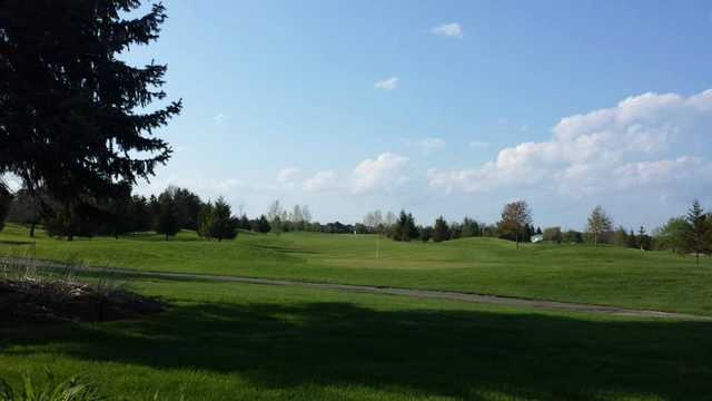 A view of the 18th green at Bradford Highlands Golf Club