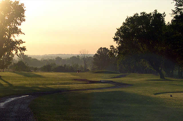 A sunny day view from Bradford Highlands Golf Club