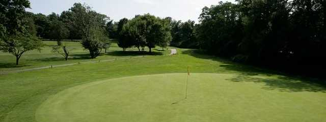A view of a green from Kissena Park Golf Course