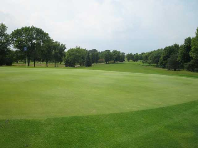 Looking back from a green at Green Garden Country Club
