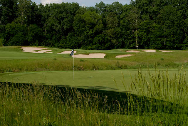 View of a green at Prairie View Golf Club