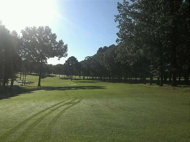 A sunny day view of a fairway at Thunderbird Country Club