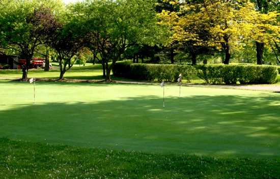 A view of the putting green at Champions Golf Course