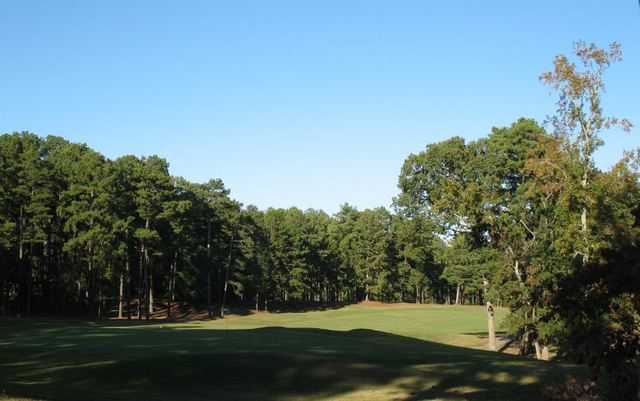 View of a green at Mystery Valley Golf Club