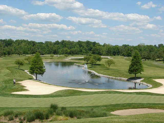 View of the 9th and 18th holes at Covered Bridge Golf Club