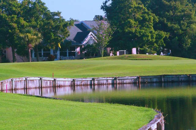A view of a green at Suntree Country Club