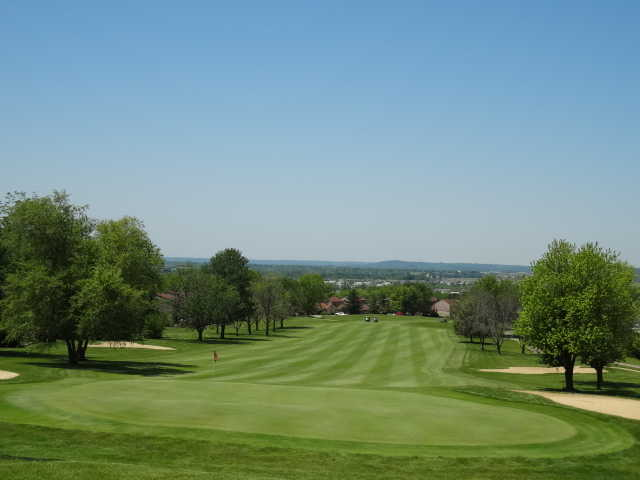 Looking back from the 17th green at Beckett Ridge Golf Club
