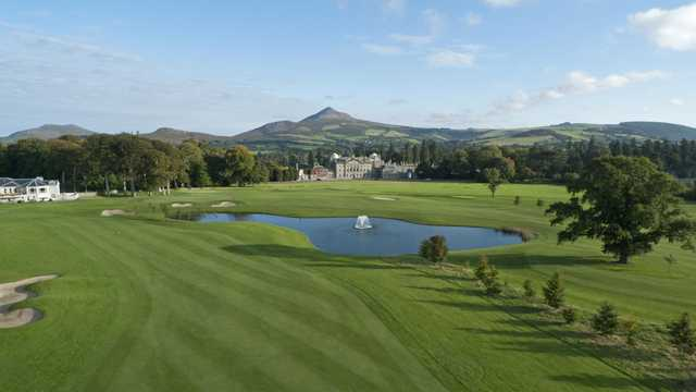 A view from the 18th East course fairway towards the 18th West Course at Powerscourt Golf Club
