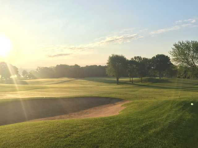 A sunny day view from Hazeltine National Golf Club