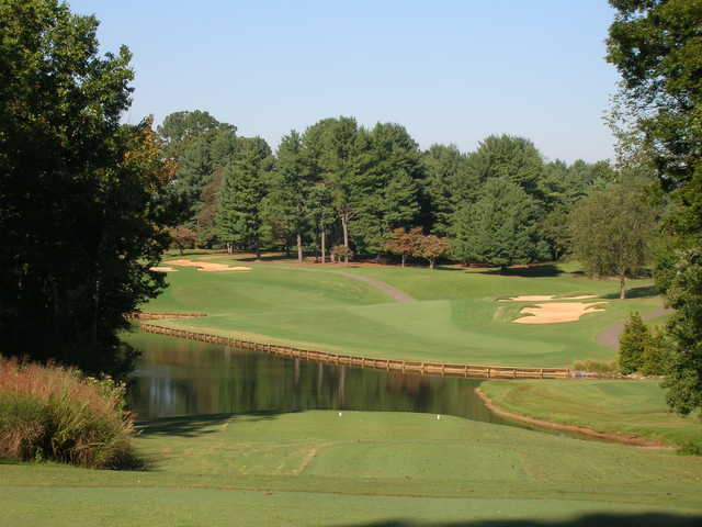 View of the 5th hole from the Championship Course at Tanglewood Golf Club