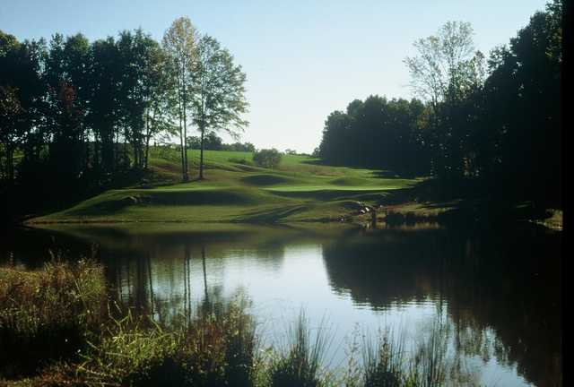 Water come into play on several holes at Oak Valley Golf Club