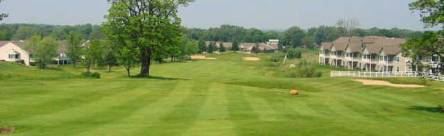 View of the 12th fairway and green at Gleneagle Golf Club