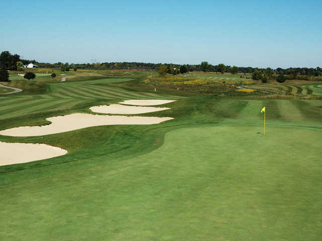 View of the par-5 6th hole at Darby Creek Golf Course
