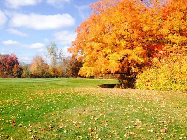 Autumn view at Marysville Golf Course