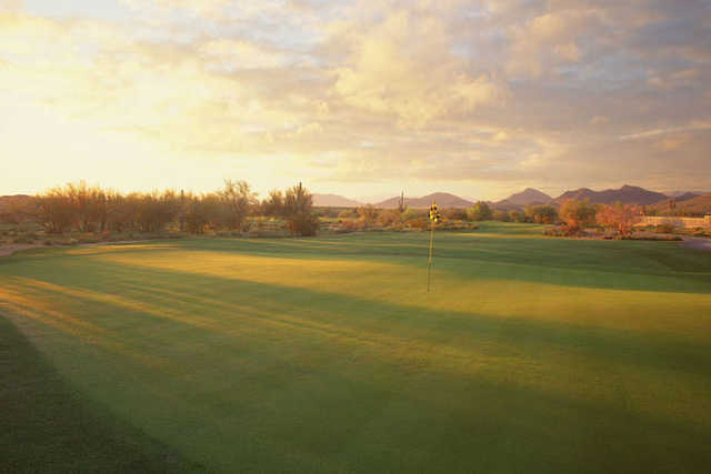 View of the 16th green at Dove Valley Ranch Golf Club