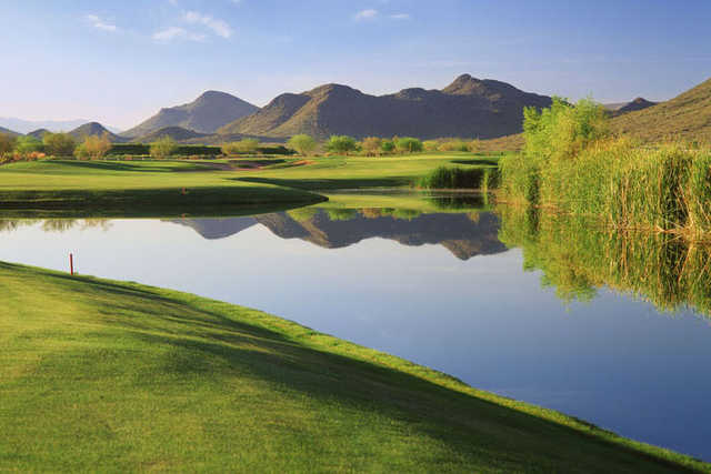 View of the 2nd fairway and green at Dove Valley Ranch Golf Club