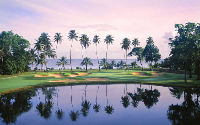 A view over the water from East Course at TPC Dorado Beach