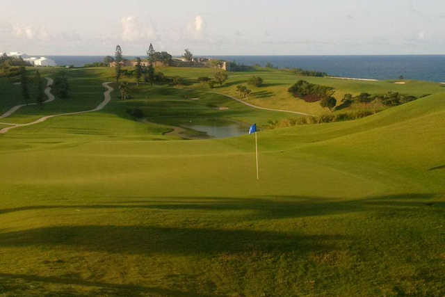A view of the 18th hole at Port Royal Golf Course