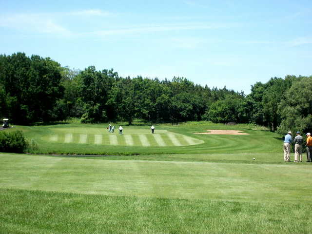 A view of a green from Highland Woods Golf Course.