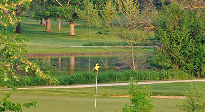 A view of a hole at Pottawatomie Golf Club
