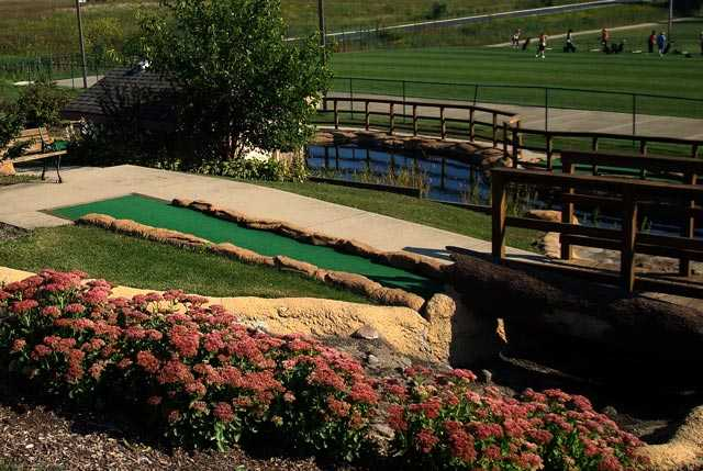 A view from the mini golf area at White Mountain Executive Golf Course