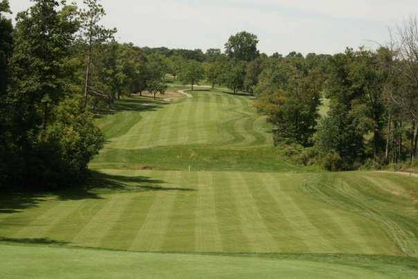 A view of the 3rd green at Mystic Creek Golf Club - Woods Course