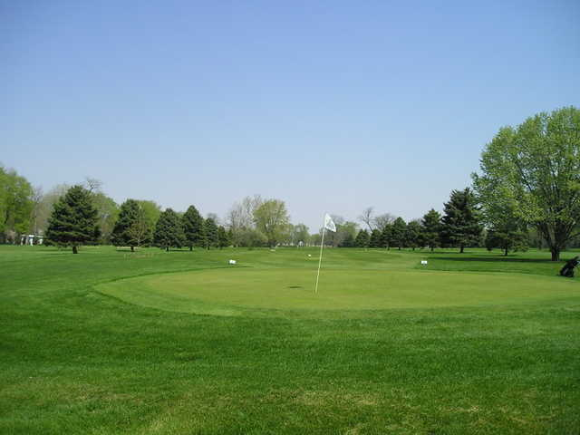 Looking back from a green at Carroll County Country Club