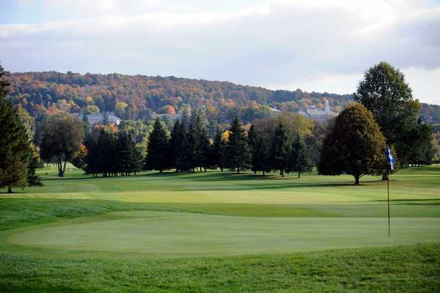 A view of hole #12 at Seven Oaks Golf Club.