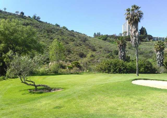 A view of green #17 at Tecolote Canyon Golf Course